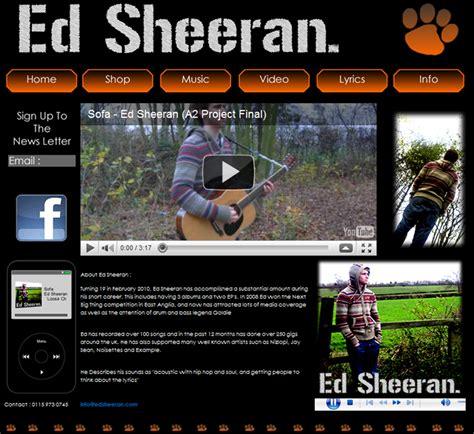ed sheeran website adam advanced portfolio final website ed sheeran