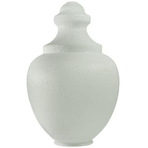 acorn street l globe white uv resistant polyethylene acorn street l