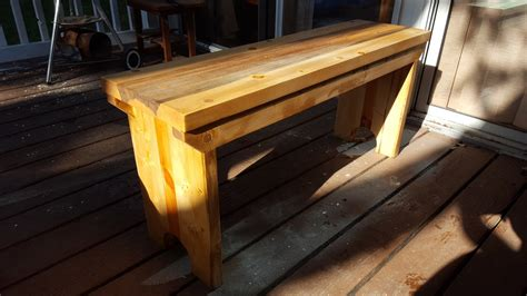 5 board bench plans rustic five board bench from construction lumber by