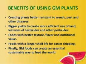 benefits of houseplants genetically modified organisms