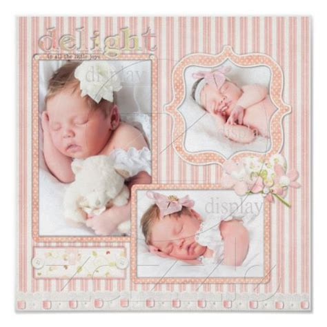 scrapbook layout ideas for baby girl pink stripe baby girl three photo scrapbook page