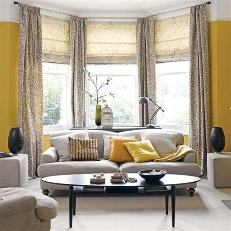 Living Room With Yellow Curtains Yellow And Grey Living Room Housetohome Co Uk