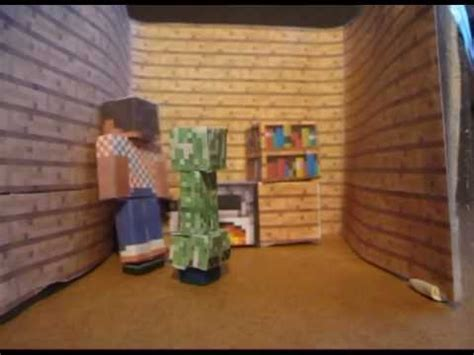Minecraft Papercraft House - minecraft papercraft a creeper at home