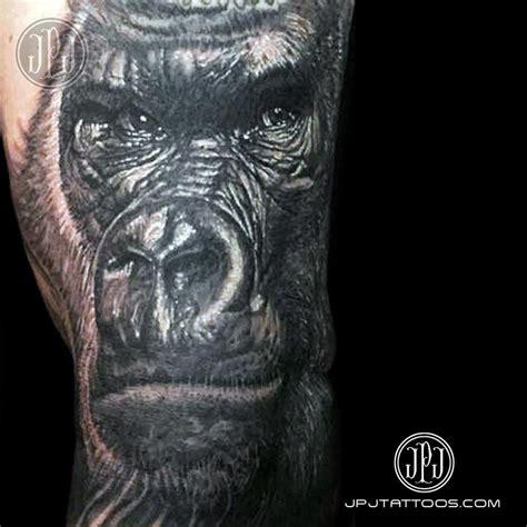 tattoo of us gorilla gorilla by jose perez jr tattoonow
