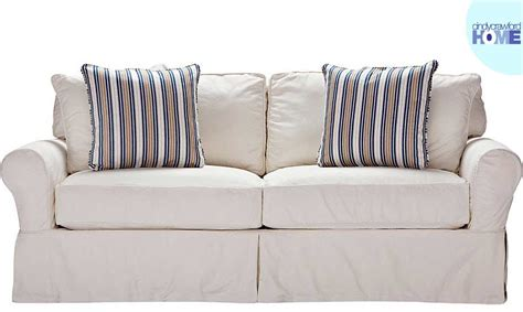 cindy crawford beachside slipcovers the beachside white contemporary living room furniture