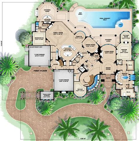 mediterranean mansion floor plans florida mediterranean house plan 60488