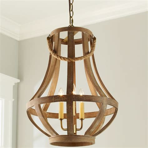 napa distressed wood chandelier shades of light
