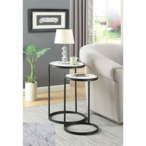 convenience concepts gold coast faux marble end table marble table bellacor