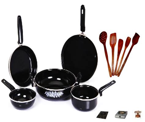 5 Pcs Non Stick Cookware Set buy 5 pcs non stick and induction base cook n serve ware set shopclues