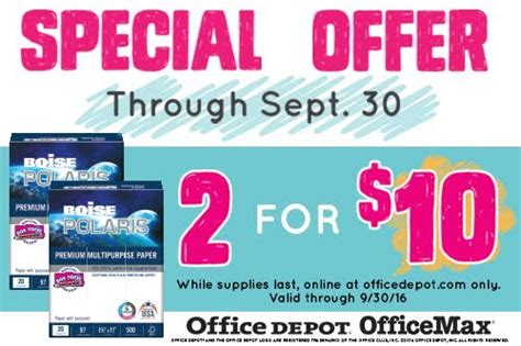 Office Depot Boise Office Depot Boise Paper Deal 50 Office Depot Gift Card