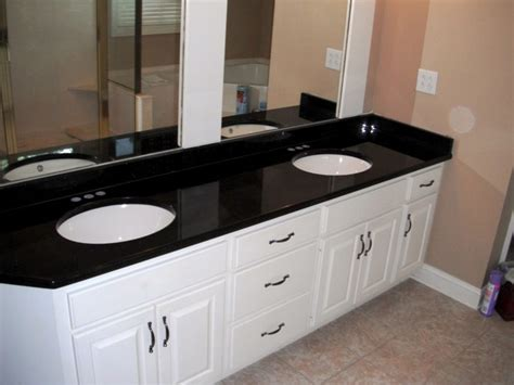 black granite bathroom 7 2 12 black galaxy granite colors for white cabinets