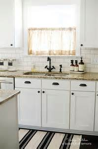 Kitchen Subway Tile Backsplash Pictures Adding Vintage Character To A New Kitchen A Bowl Full