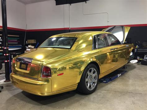 rolls royce gold and tuningcars gold chrome rolls royce phantom