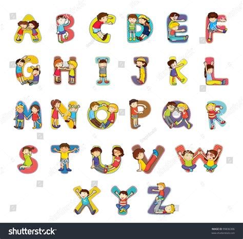 animal alphabet character stock vector set kid alphabet characters stock vector 99836306
