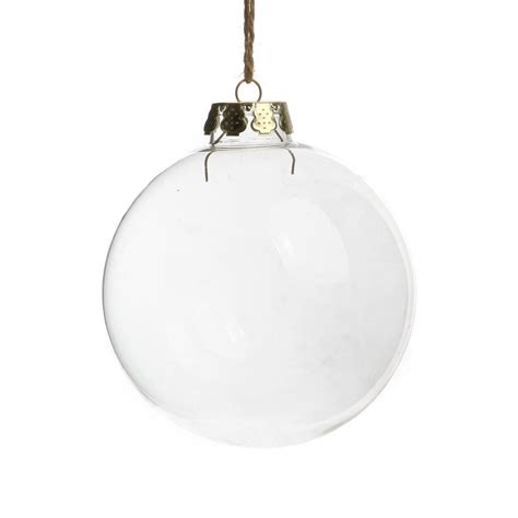 wholesale free shipping christmas ornaments 80mm clear