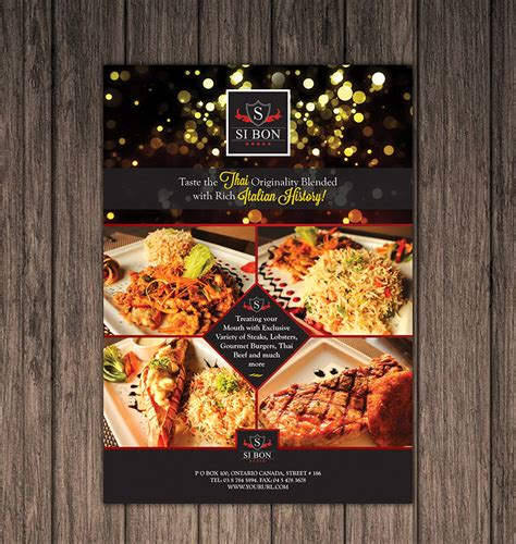 flyers design templates for restaurant hotel restaurant flyer design template one dollar graphics