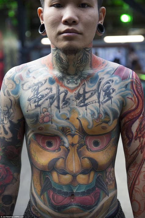 full body tattoo convention tattoo fans show off their weird and wonderful creations