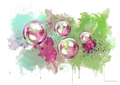 Home Decor Wall Stickers quot watercolor soap bubble painting quot by thubakabra redbubble