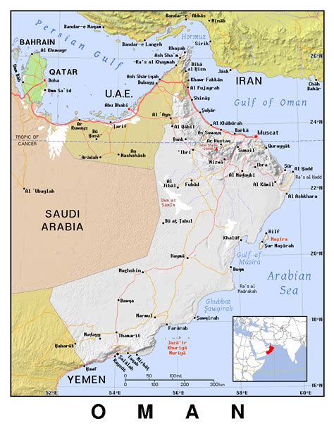 oman political map maps of oman detailed map of oman in tourist