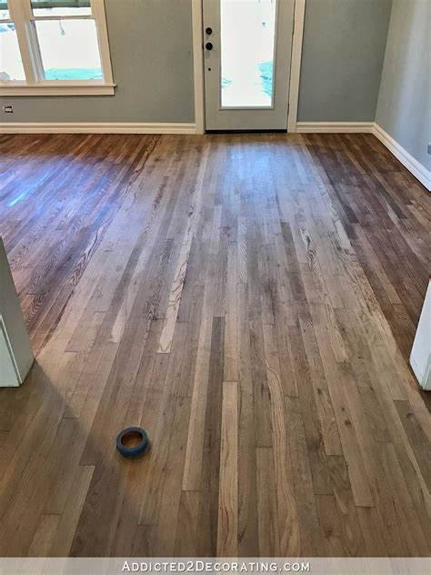 adventures  staining  red oak hardwood floors products process addicted  decorating