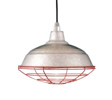 barn light with cage galvanized pendants lend industrial style to commercial