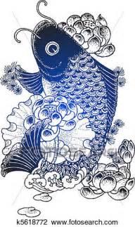 clipart pesce clip pesce koi illustrazione k5618772 cerca