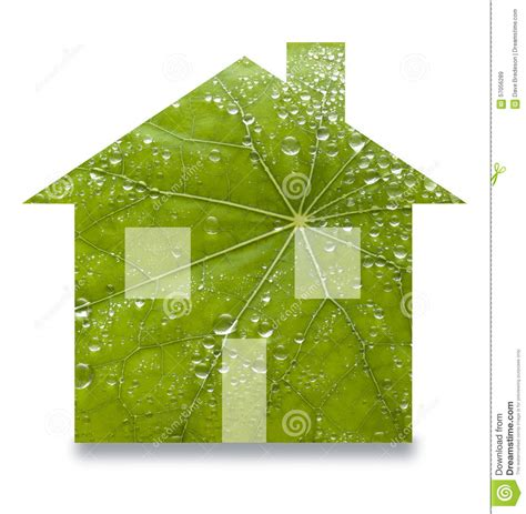 sustainable home green sustainable home leaf renewable energy stock photo