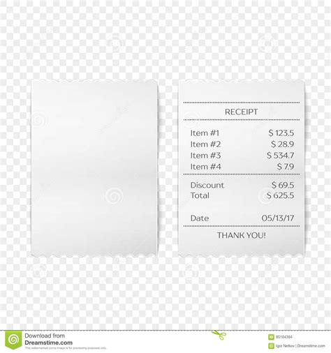sle invoice vector printed receipt vector stock vector image of payment