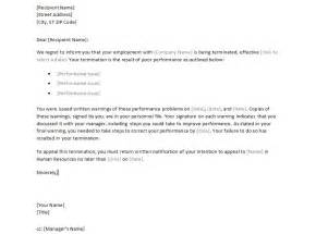 template termination of employment sle employee termination letter termination letter to