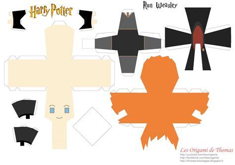 D D Papercraft - harry hermione et le vif d or d harry potter en