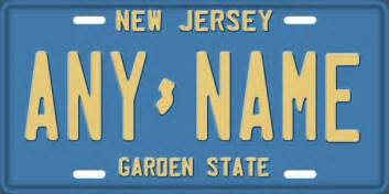 new jersey vintage license plate license tag novelty