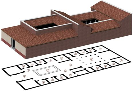 roman domus plan lifestyles of the roman rich and famous houses and villas