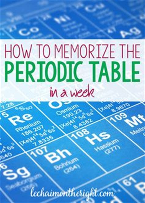 how to study the periodic table 1000 ideas about high school hacks on study