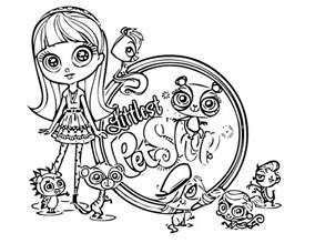 littlest pet shop coloring page littlest pet shop coloring pages squid army