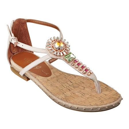 cork bed sandals all about the details jeweled thong 1 4 quot sandal with