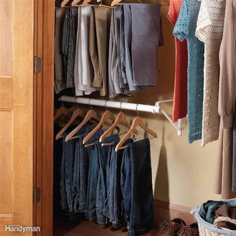 Wardrobe Rod - easy ways to expand your closet space the family handyman