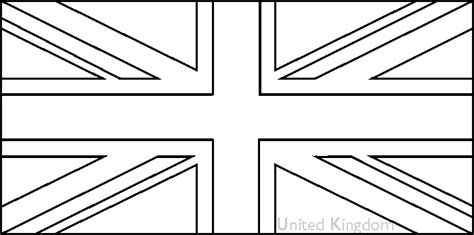 Free Coloring Pages Of British Flag Printable Uk Flag Coloring Page