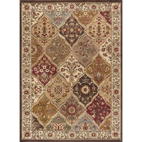 rugs 5 x 7 tayse rugs elegance multi 5 ft x 7 ft traditional area rug 5120 multi 5x7 the home depot
