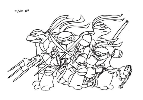Teenage Mutant Ninja Turtles Coloring Page Coloring Home Tmnt Colouring Pages