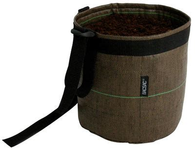 suspendu geotextile hanging pot 10 l outdoor brown by