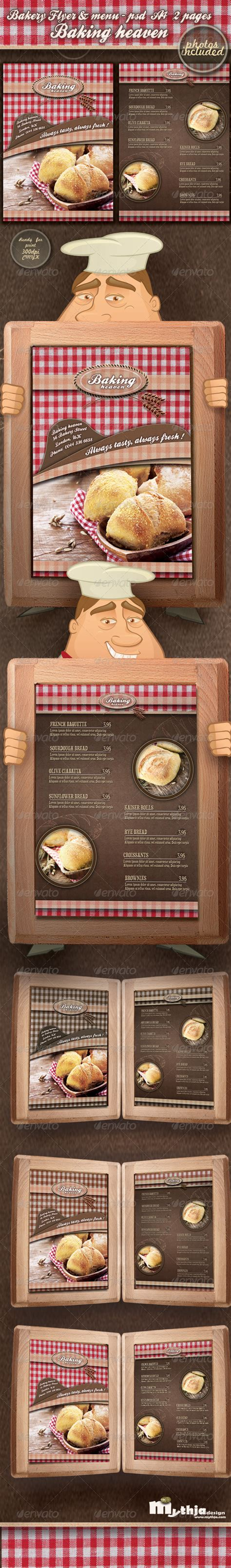 Bakery Flyer Menu Template Photos Included Graphicriver Bakery Flyer Templates Free