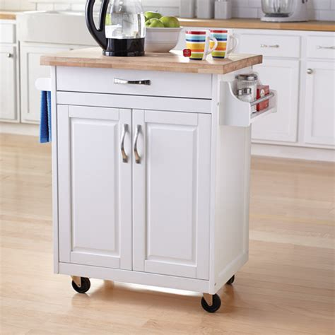 Kitchen Island Cart Walmart | mainstays kitchen island cart multiple finishes walmart com