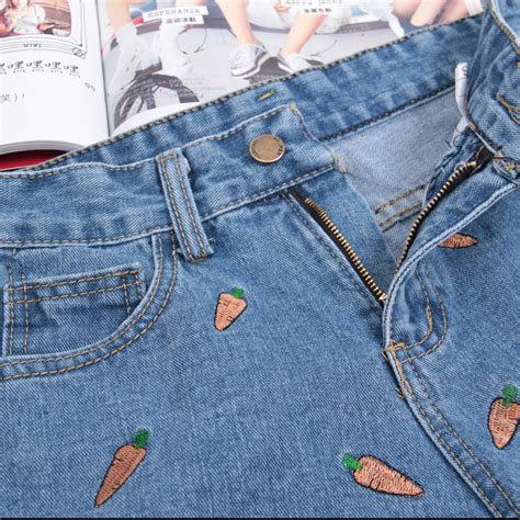 Embroidery Denim Shorts carrot embroidery denim shorts on storenvy