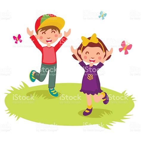 habitaciones alegres ninos felices ilustraci 243 n de vectores de dos ni 241 os felices de dibujos