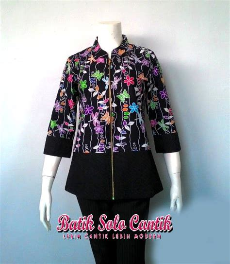 Baju Terra Dress Int 1 model blouse batik kerja chevron blouse