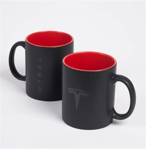 Tesla Merchandise Tesla Mug Set By Tesla Choice Gear