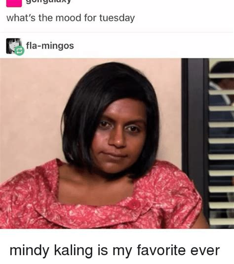 Mindy Meme - what s the mood for tuesday flan mingos mindy kaling is my
