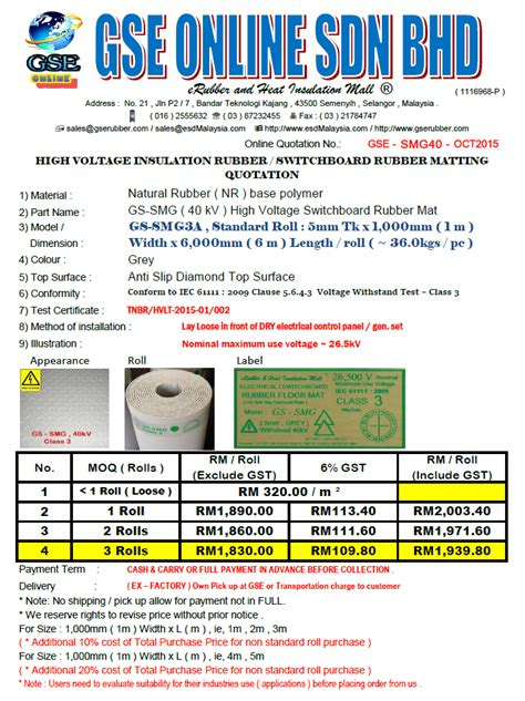 high voltage company in malaysia dielectric rubber mat malaysia