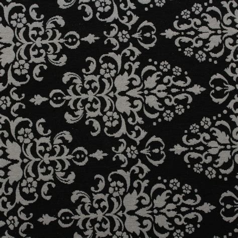 black floral upholstery fabric black and white floral damask tapestry curtain upholstery