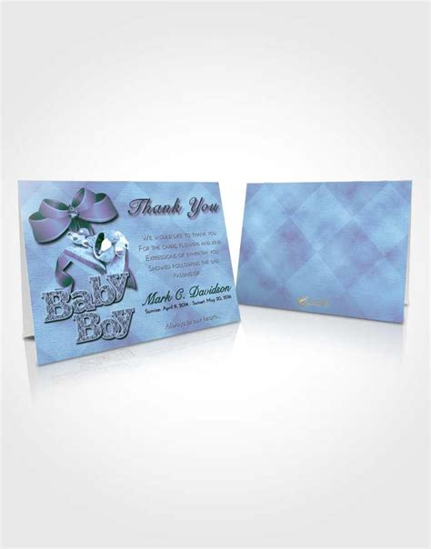 Baby Boy Card Template by Thank You Card Template Gentle Baby Boy